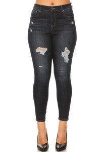 EnJean High 5 pocket skinny jeans with distress