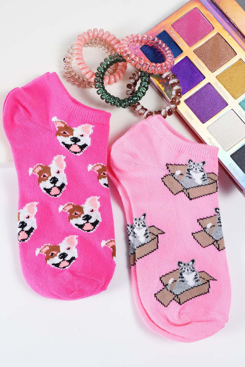Fun printed Dog and Cat socks