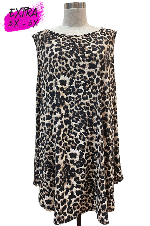 Sleeveless Leopard Print Top