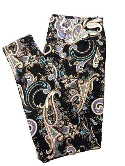 Paisley v2 Full Length Legging NO pockets