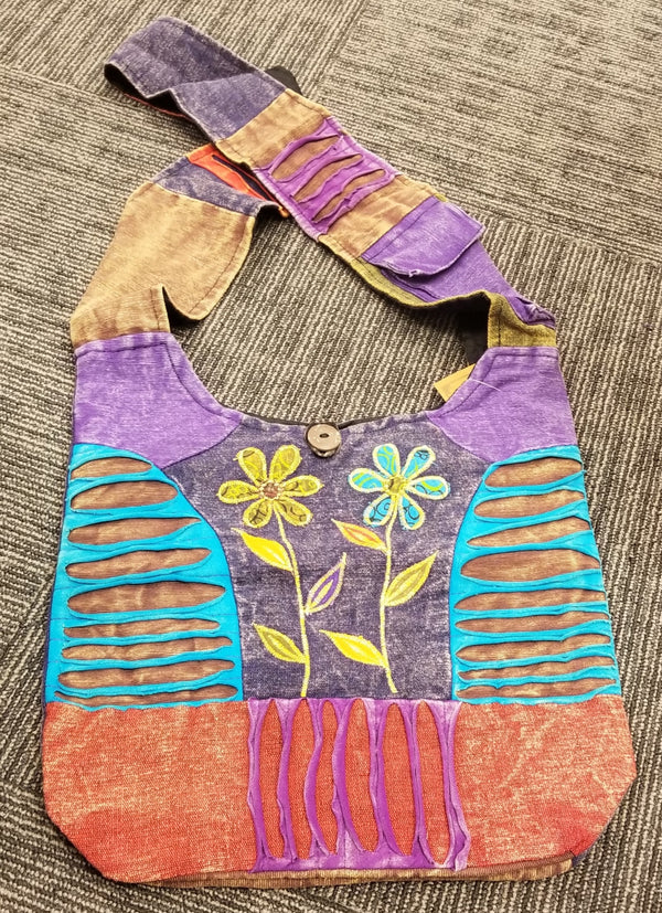Boho Bag - Two Flowers