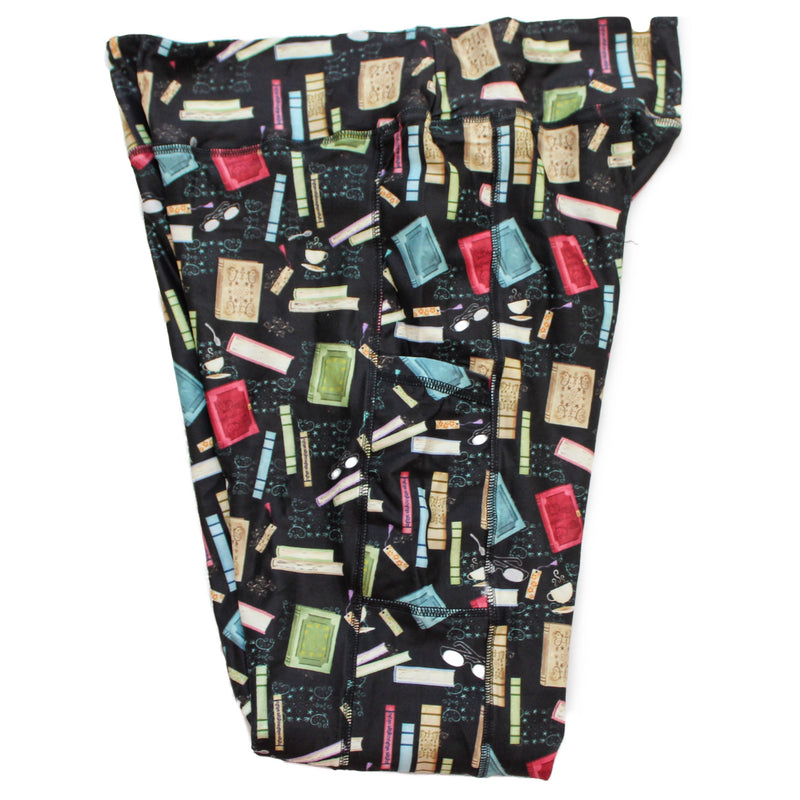 Book Lover full length legging with pockets