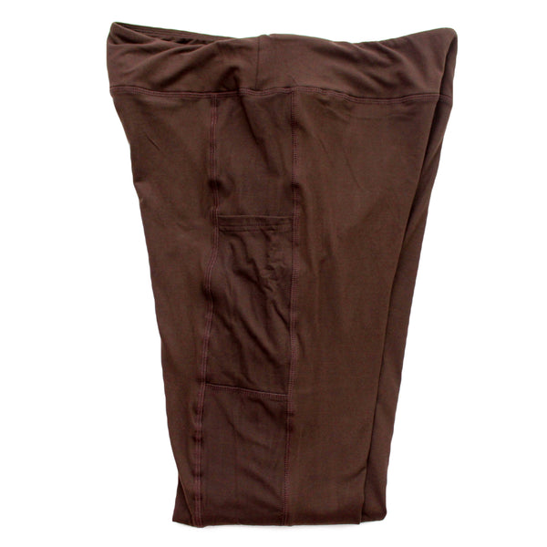 Magic Pocket Legging - Dark Brown Full Length