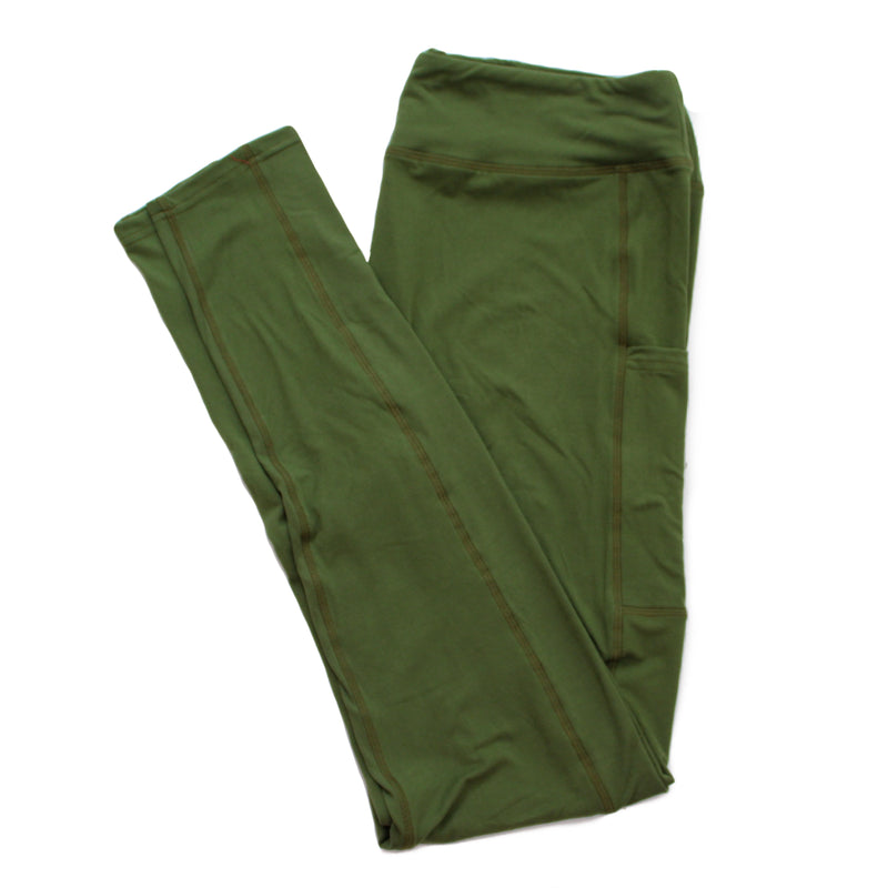 Magic Pocket Legging - Green Full Length