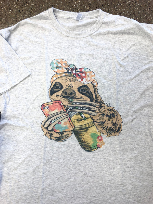 Summer Sloth Graphic Tee