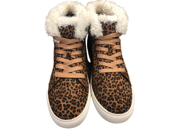 Leopard Fur Lined Booties