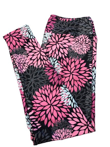 Dahlias Full Length Legging NO pockets