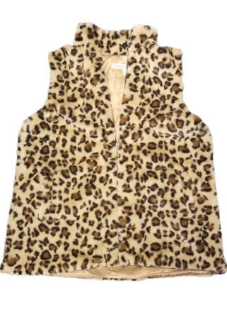 Leopard Print Zip-up Vest