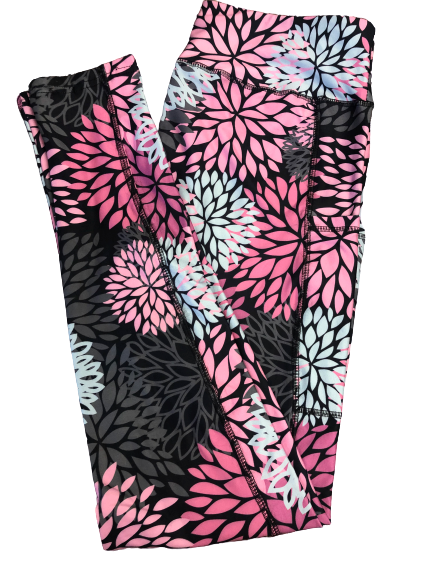 Dahlias Full Length Legging WITH pockets