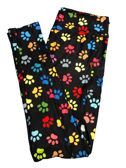 Rainbow Paws Full Length Legging WITH pockets