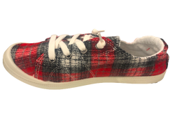 Flannel feel plaid sneaker