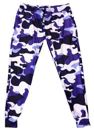 Purple Camo full length jogger