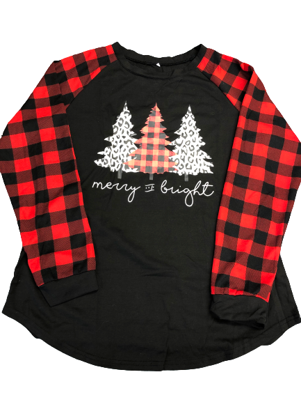 Merry and Bright Holiday Top