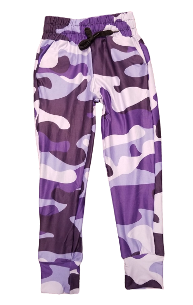 Kids Purple Camo Jogger