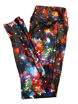 Christmas Tree Lights Full Length Legging WITH pockets