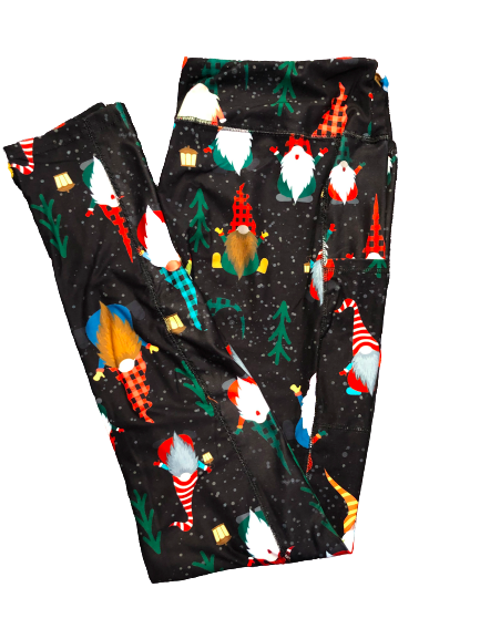 Christmas Gnomes Full Length Legging WITH pockets