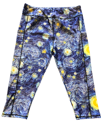 Starry Night Capri legging with pockets