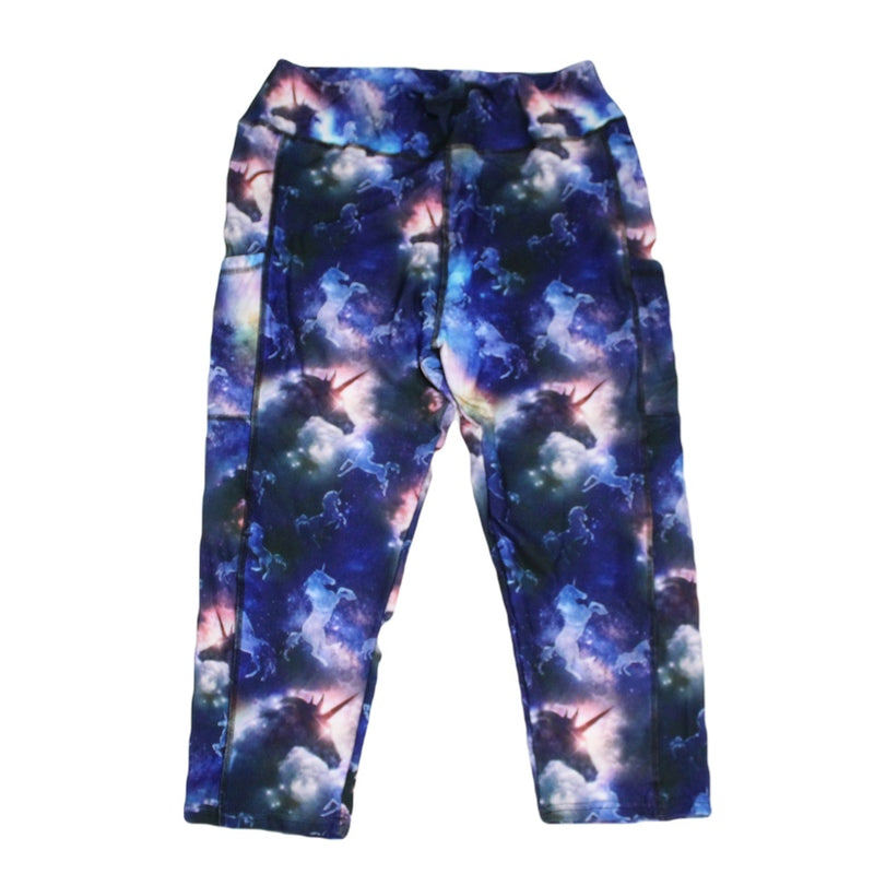 Unicorn Sky Capri Legging with pockets