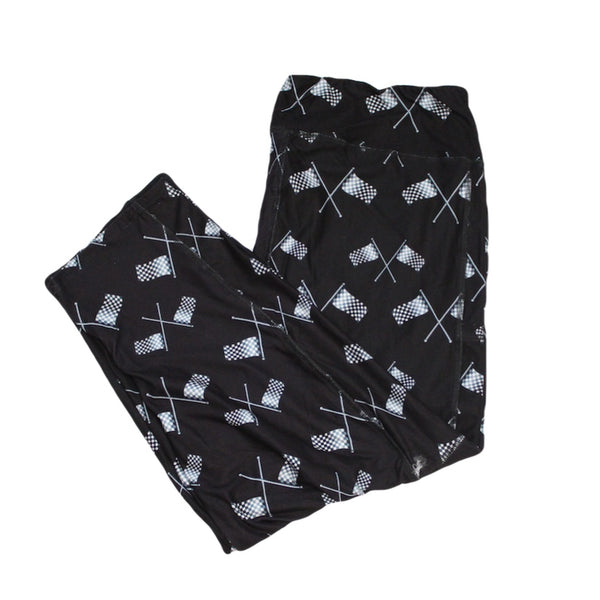Checkered Flags Capri Legging with pockets