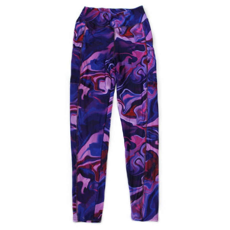 Marbleized Full Length Legging with pockets