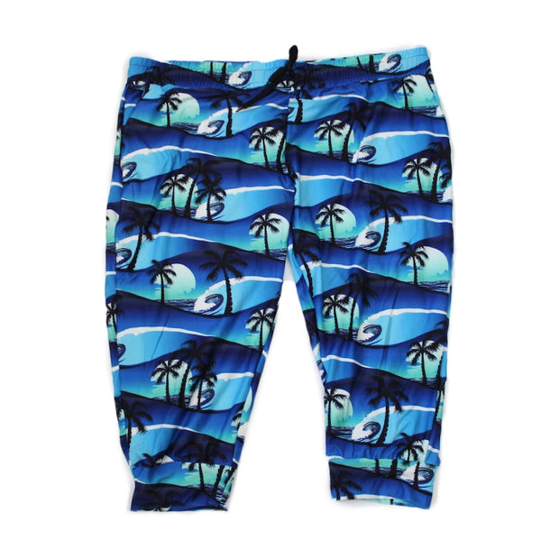 Palm Tree Capri Jogger