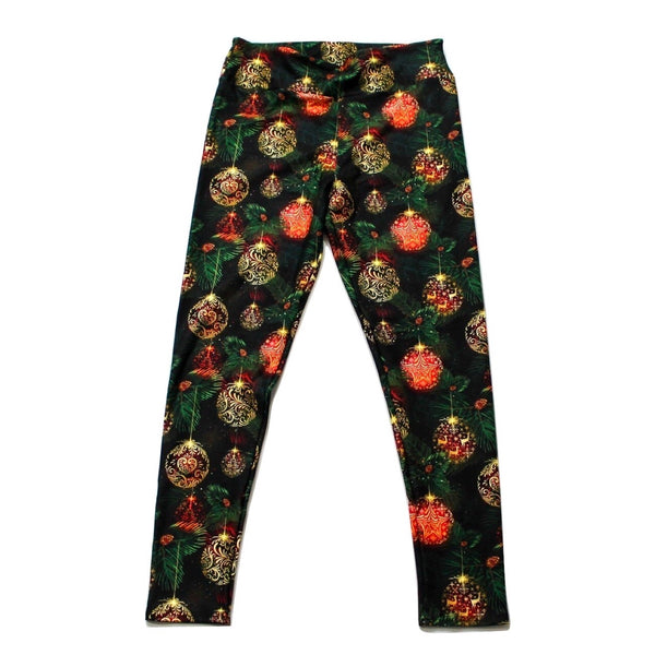 Christmas Ornaments full length legging NO pockets
