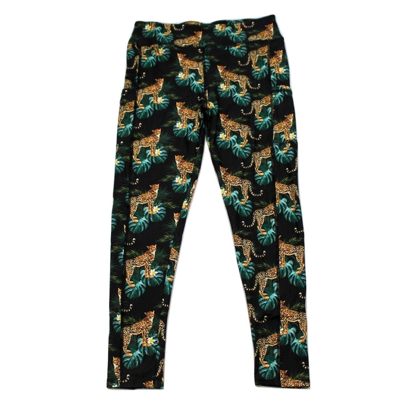 Cheetahtude full length legging with pockets
