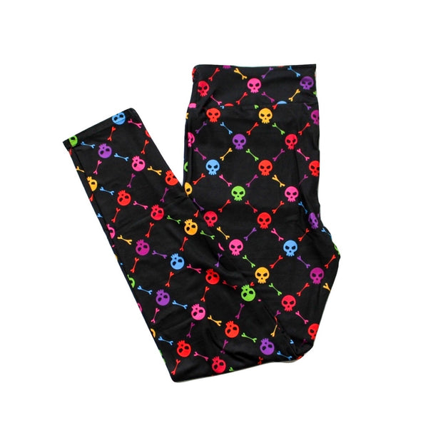 Rainbow Skulls full length legging NO pockets