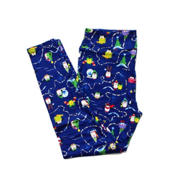 Holiday Penguins full length legging NO pockets