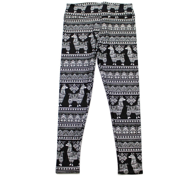 Sweater Llamas full length legging NO pockets