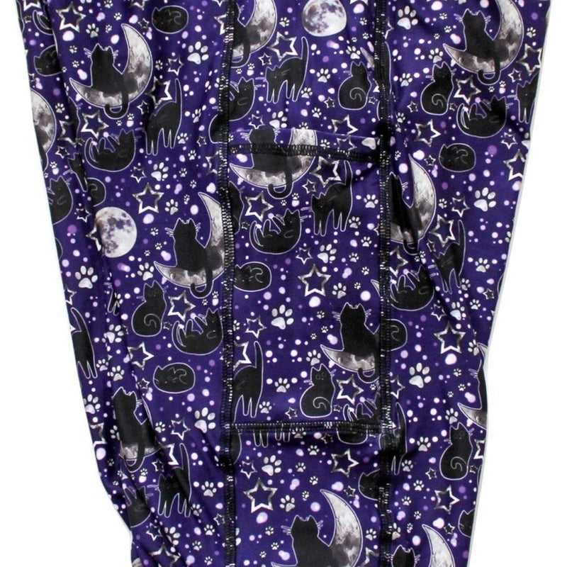 Moon Kitty full length legging with pockets