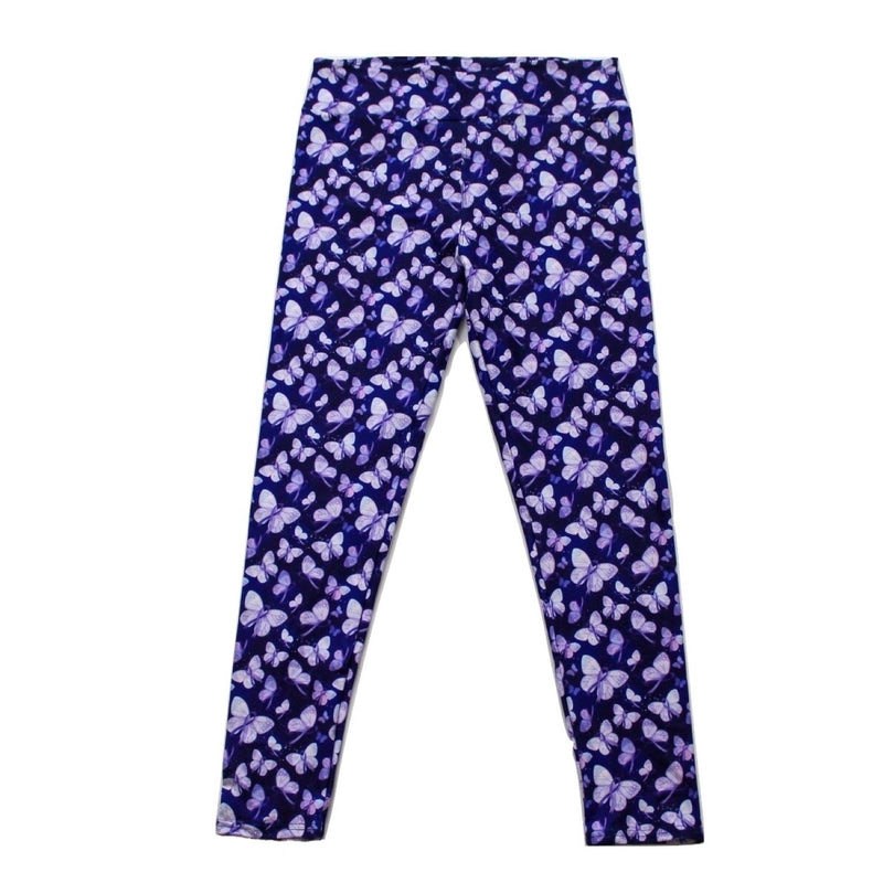 Purple Butterflies full length legging NO pockets