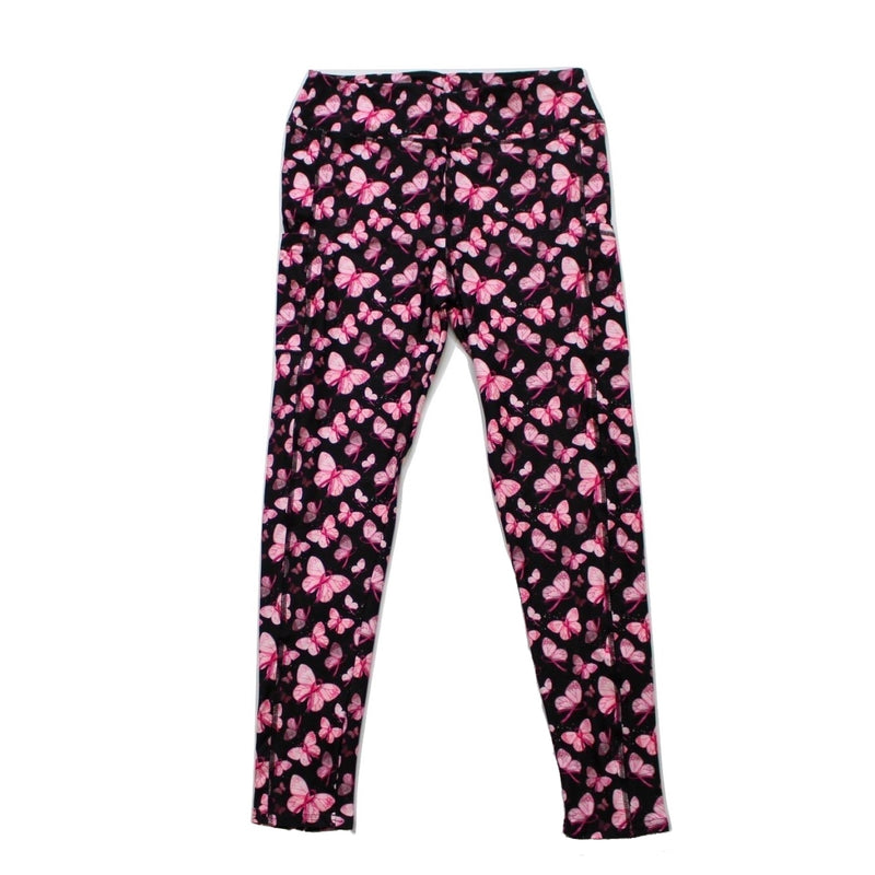 Pink butterflies full length legging with pockets