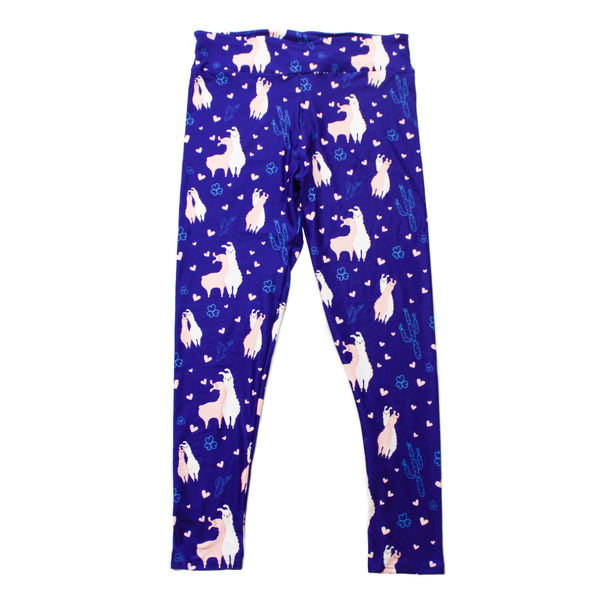 Llamas in Love full length legging NO pockets