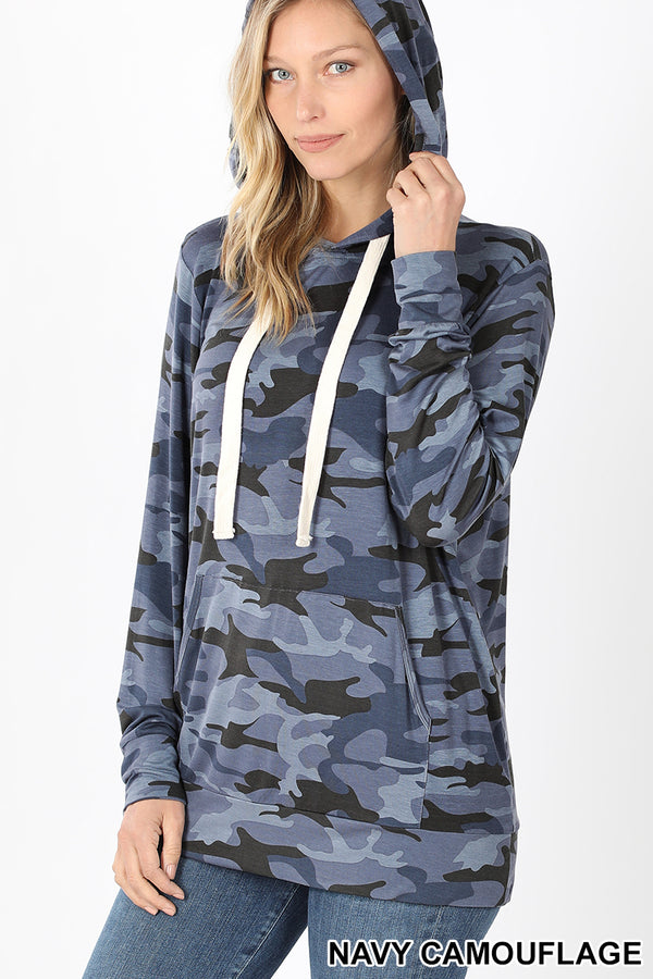 Camo Hoodie with Kangaroo Pouch Pocket