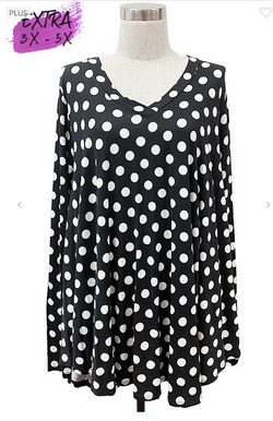 Black and White Tunic 3X-5X only