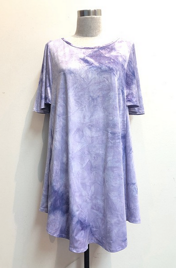Purple Tie Dye Tunic