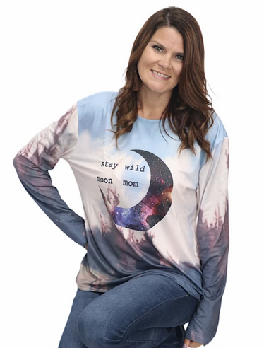 Stay Wild Moon Mom Tie Dye Top