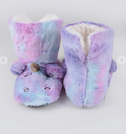 Foofy Unicorn Slippers