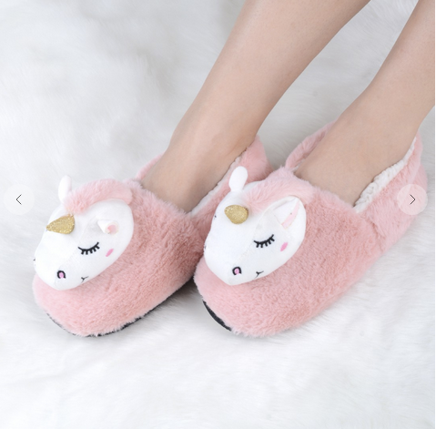 Solid Unicorn Head Slipper