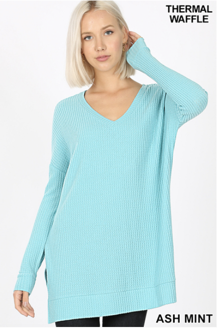 Brushed Thermal Waffle Tunic