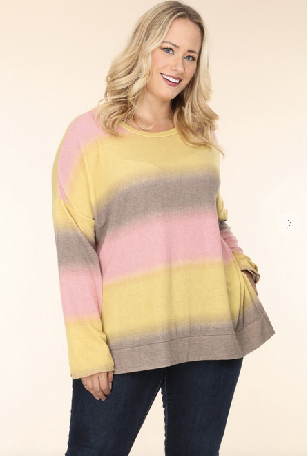 Ombre Oversized Knit Tunic