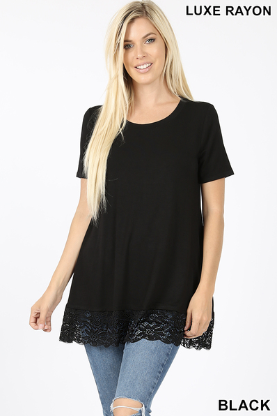 Lace Bottom top sizes S-XL