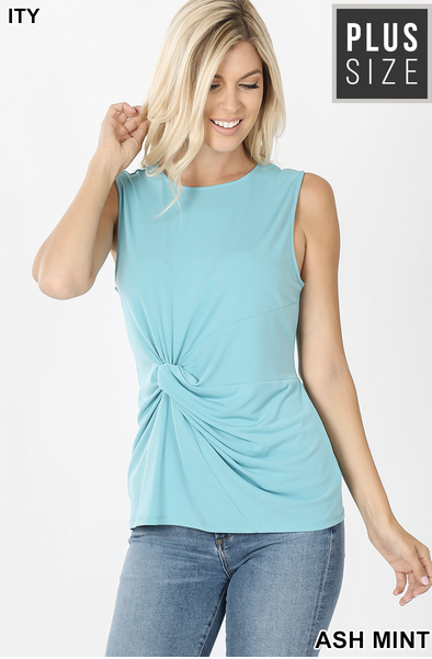 ITY Front Knot Sleeveless Top