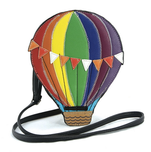 Hot air balloon cross body bag