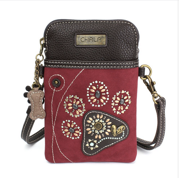 Chala Dazzled Paw Print Cell Phone Crossbody