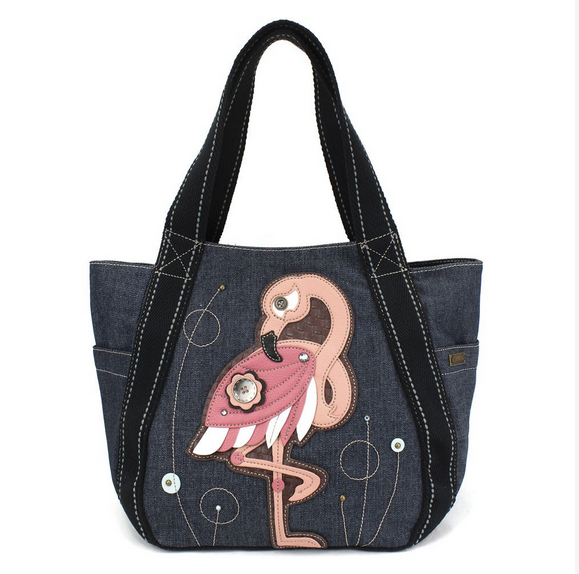 Chala Flamingo Carryall Zip Tote