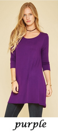 Love In 3/4 sleeve tunic S/M/L