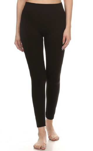 Fleece leggings - solid