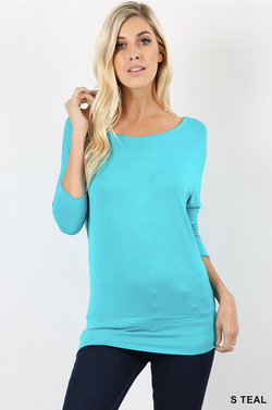 Dolman Sleeve/Banded Bottom Tee